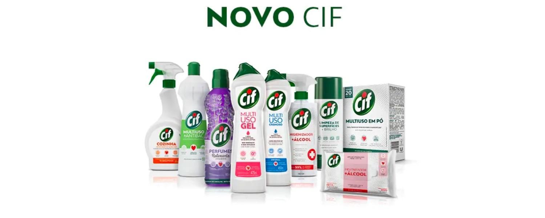 Produtos CIF em fundo branco